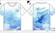 深圳石岩公学高中部112班定制的海洋鲸鱼全身印短袖班服