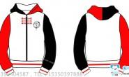 广东省某学校定制的冬季全身印卫衣外套7班中国风班服