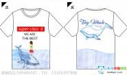 广东省东莞市实验中学定制的6班创意小清新情侣鲸鱼酷炫全身印班服