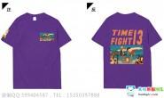 广东省深圳市深圳科学高中高二13班定制的深紫色短袖个性创意卡通唯美班服