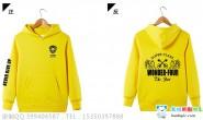 广西省南宁市邕武路学校定制的4班黄色连帽加绒卫衣简约励志个性创意班