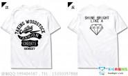 广东省河源市实验中学高三13班设计的潮流个性炫酷霸气钻石英文白色短袖班服图案