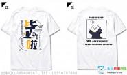 广东省深圳是实验中学5班创意卡通毕业白色短袖班服