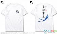 广东省梅州市第三中学鲸鱼励志白色短袖班服