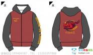 广西壮族自治区南宁市西乡塘区定制的全身印创意个性爱国龙霸气拉链带帽卫衣