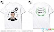 四川省南充市西充中学定制的个性毕业纪念创意卡通人物文字9班白色短袖班服