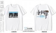 浙江省嘉兴市定制的简约青春老同学致青春30年聚会白色短袖