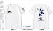 海南省海师附中11班文科创意老师手绘仙鹤励志中国风短袖