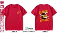 海南省琼海市长坡镇中学6班仙鹤励志潮流红色短袖班服