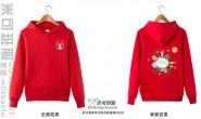 湖南省常德市湘北职业中专学校定制的个性简约创意唯美鹿环境工程3班红色连帽卫衣班服