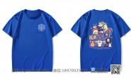 广西崇左市民师院附属中学定制的个性简约创意霸气潮流国潮卡通145班深蓝色短袖班服