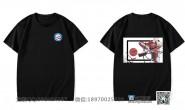 东莞市麻涌中学定制的个性创意简约霸气篮球毕业情侣男女炫酷体育班黑色短袖班服
