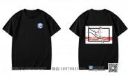 东莞市麻涌中学定制的个性创意简约霸气篮球毕业炫酷体育班黑色短袖班服