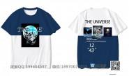 广东省广州市第一中学定制的个性创意潮流宇航员励志炫酷拼接12班全身印短袖班服
