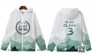 广东省广州市第一中学定制的个性创意唯美泼墨中国风简约3班全身印风衣班服