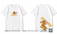 贵州省六盘水市第一中学定制的创意情侣个性卡通可爱男女猫和老鼠毕业3班白色短袖班服