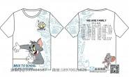 山东省滨州市第一中学定制的个性创意毕业新款猫和老鼠卡通可爱纪念拼名字情侣男女奥特曼全身印1班短袖班服