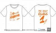 中考励志团结橘色短袖一班班服