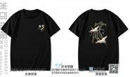十班中国风仙鹤黑色短袖