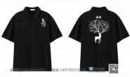 十五班黑色衬衫拼名字短袖班服
